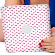 Polka Hearts iPad decals skin