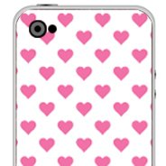 Polka Hearts  iPhone decals skins