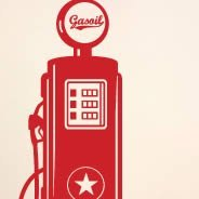 Gas Pump wall tatoos