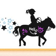 Love My Pony! chalkboard and vinyl wall tattoos