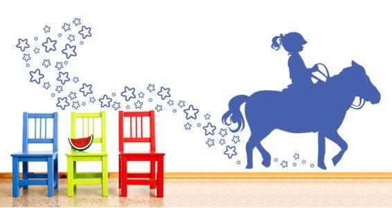 Love My Pony decorative stick-ons