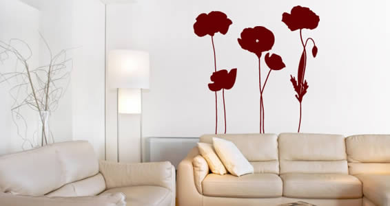 Poppies Field decorative stick up