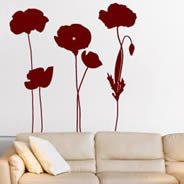 Poppies Field wall decals