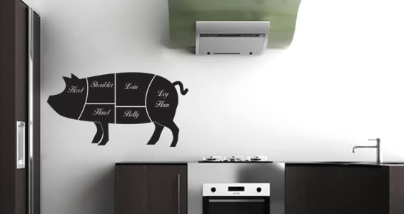 Pork Cuts wall decals