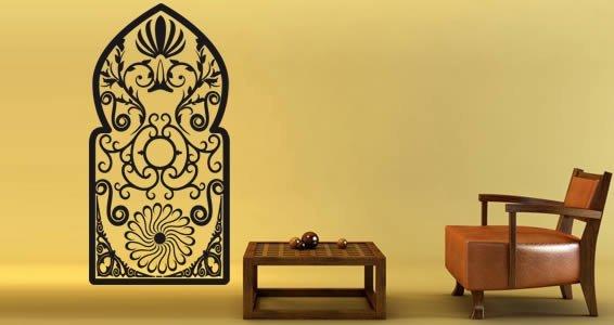 Wroughtiron Gate vinyl wall graphics