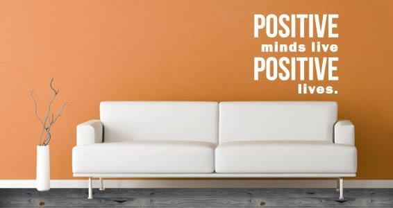 Positive quote decals