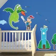 Prince Knight wall decal pack