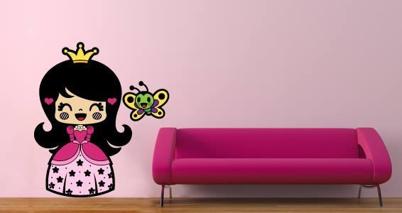 Happy Princess wall decals by Charuca