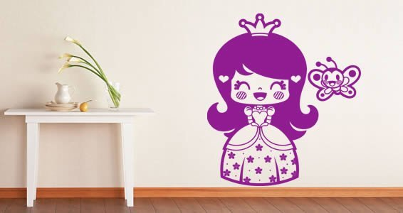 Little Princess removable wall decals