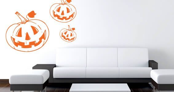 Funny Pumpkin wall decals