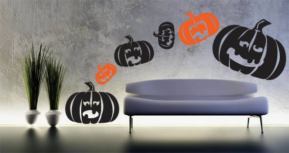 Pumpkins Halloween wall decals