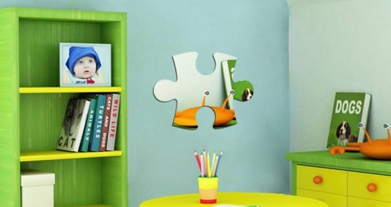 Puzzle Piece wall mirrors