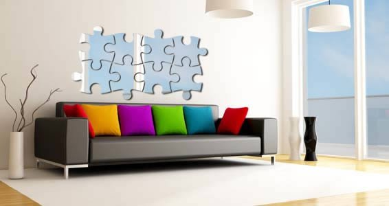 Puzzle Pack wall mirrors