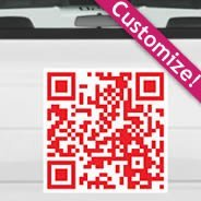 QR Code car stickers
