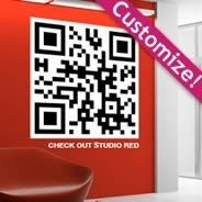QR Code wall decals
