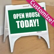 White Quick Sign Sandwich Board