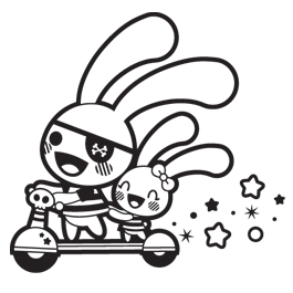 Rabbits nursery wall stickers