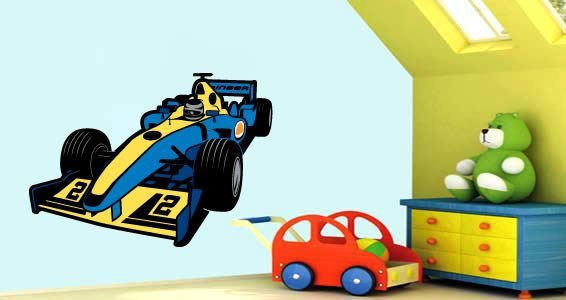Race Cars wall stickers by Charuca