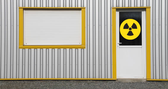 Radioactive Sign decal