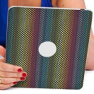 Rainbow Dots iPad decals skin