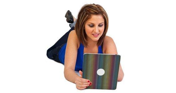 Rainbow Dots iPad decals skin