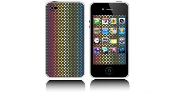 Rainbow Dots  iPhone decals skins