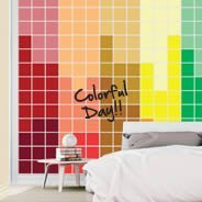 Rainbow Pixel Dry Erase wall decals
