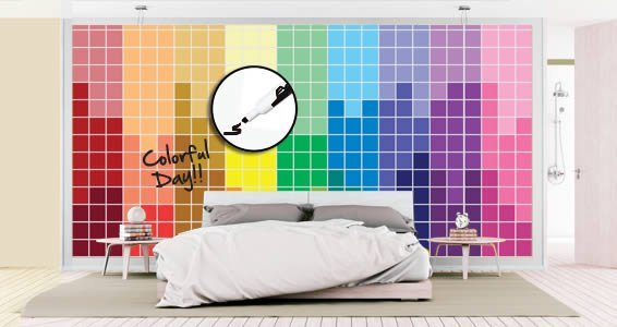 Rainbow Pixel Dry Erase Wall Decals Part 91