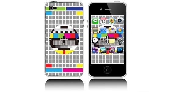 Rainbow Screen iPhone decals skins