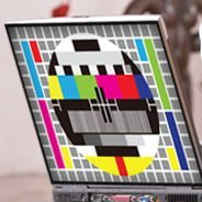 Rainbow TV Screen laptop decals skin