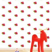 Raspberry Step and Repeat wall mural