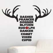 Reindeer Names wall decal