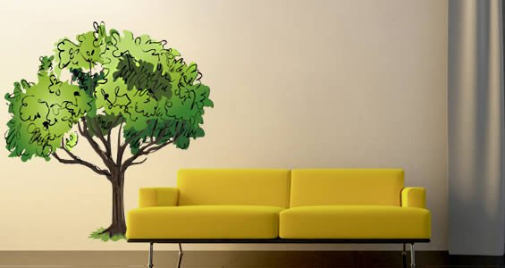Relaxing Trees wall decals