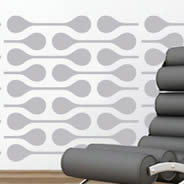 Retro Line Dots pack wall decals
