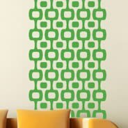 Retro Square wall decal