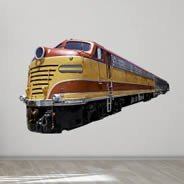 Retro Train wall decal
