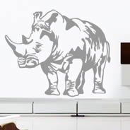 Rhino wall decal