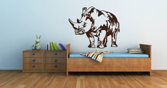 Rhino wall decals