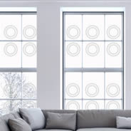 Circle frosted window stickers