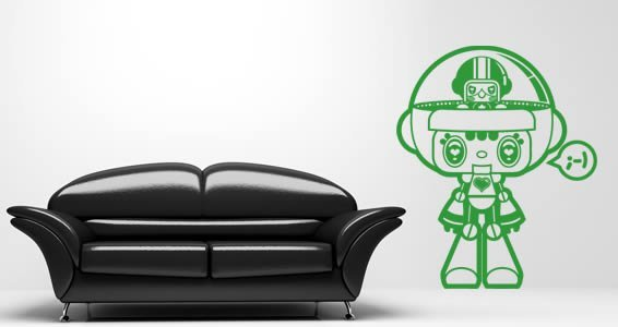 Robots - kids wall stickers