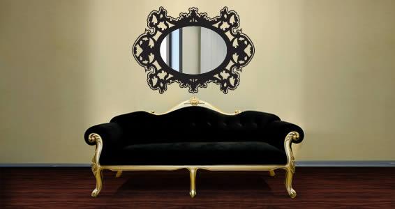 Rococo Baroque mirror and vinyl
