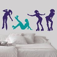 Roller Skate Girls wall decal