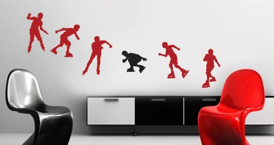 Roller skaters decal
