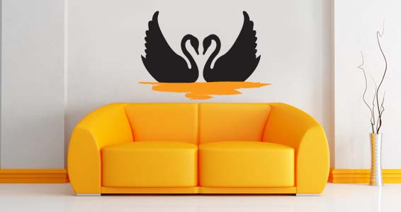 Swan wall decals