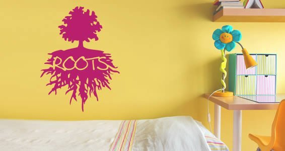 Roots and Tree wall decals