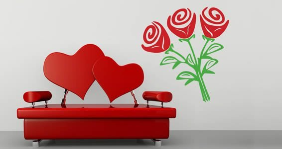 Rose Bouquet wall stickers