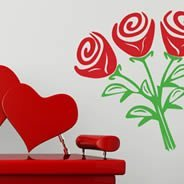 Roses wall stickers