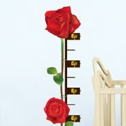 Roses growth chart wall decal
