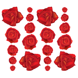 Blooming Roses wall decals