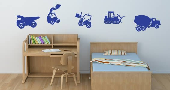 Trucks Pack wall decals